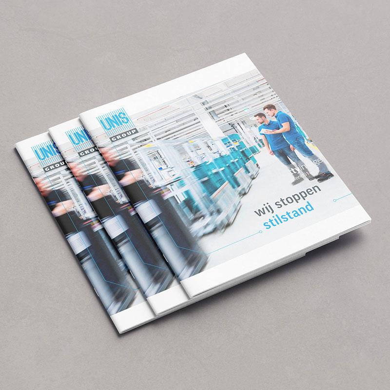 Ontwerp brochure Unis Group in opdracht van Buro Andringa