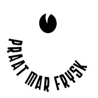 praat mar Frysk logo in zwart-wit